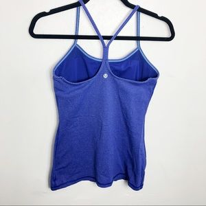 Lululemon Blue Purple Striped Power Y Tank Top 6